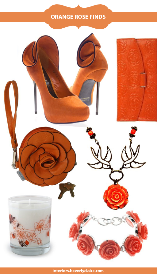 Orange rose accessory finds by beverlyclaire.com
