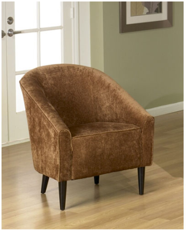 Armen Living Orion Rust Chenille Club Chair