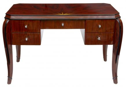 Art Deco Vintage Desk in Rosewood