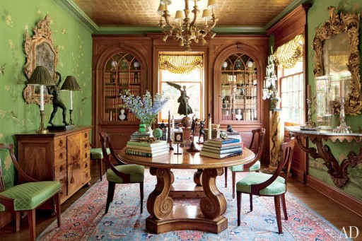 Dining room designed by Timothy Corrigan