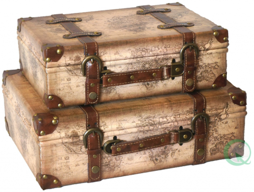 Old Maps and Vintage Suitcase Boxes - Beverly Claire Interiors ...