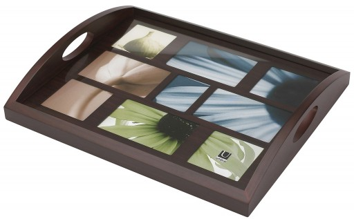 Umbra Host 9-Opening Wood Photo Tray, Espresso