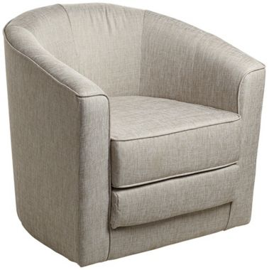 Jason New York Sand Swivel Accent Chair