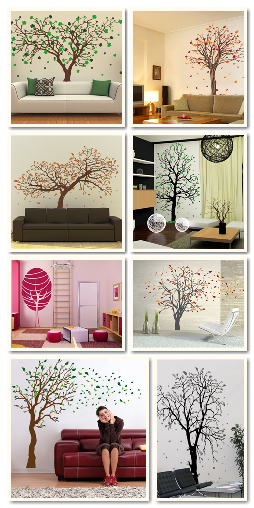 Selected wall decals from wallspirit.com