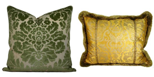 damask accents in green - photo #23